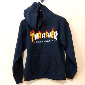 Thrasher Magazine Black Pullover Hoodie